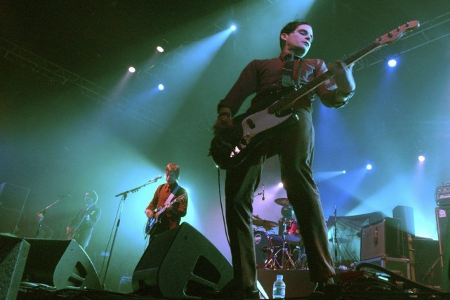 Interpol en spectacle à Bourges en avril 2003.... (Photo: archives AFP)