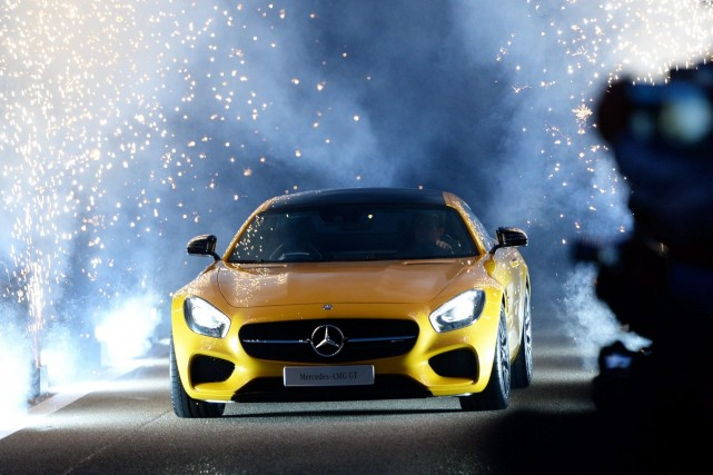 Nico Rosberg, pilote de l'écurie de F1 Mercedes,... (Photo Bernd Weissbrod, AFP)