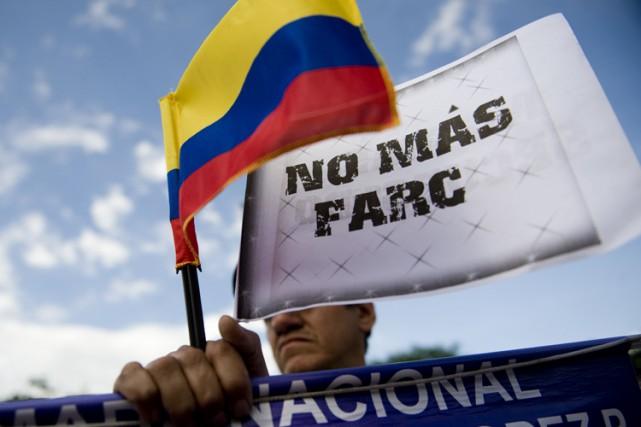 Fondée en 1964, les FARC, la principale guérilla... (PHOTO ARCHIVES AFP)