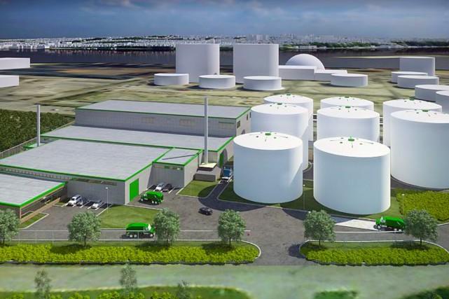 L'usine de Québec, prévue initialement pour 2014, est... (Image fournie par la Ville de Québec)
