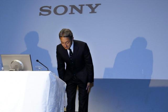 Le PDG de Sony, Kazuo Hirai.... (Photo Toru Takahashi, AP)