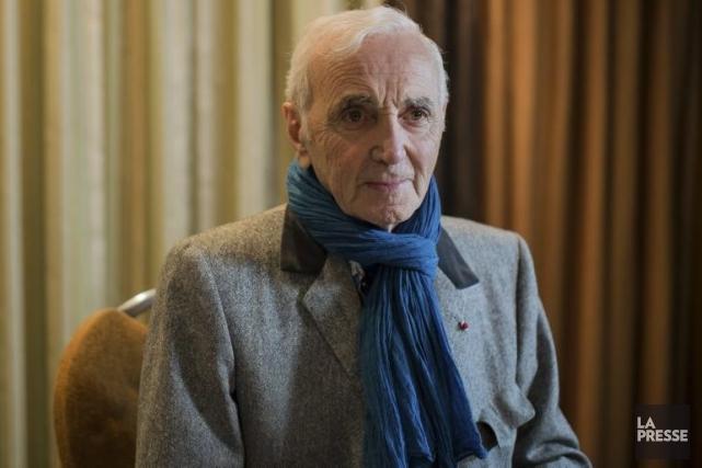 Charles Aznavour est arrivé à sa conférence de... (Photo: Édouard Plante-Fréchette, La Presse)