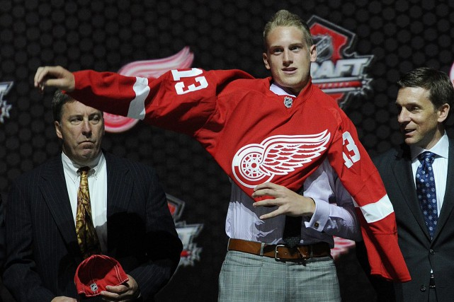 L'attaquant Anthony Mantha a été le premier choix... (PHOTO ARCHIVES ASSOCIATED PRESS)