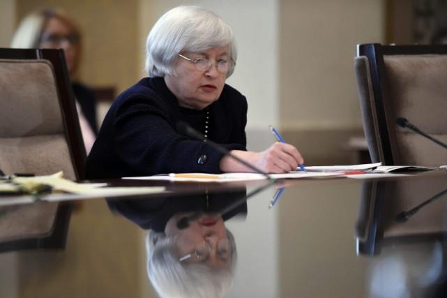 La présidente de la Réserve fédérale Janet Yellen... (Photo Susan Walsh, AP)