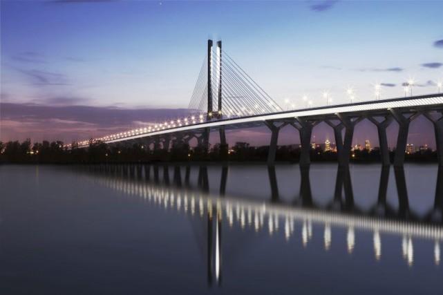 Le futur pont de remplacement du pont Champlain.... (PHOTO FOURNIE PAR INFRASTRUCTURE CANADA)
