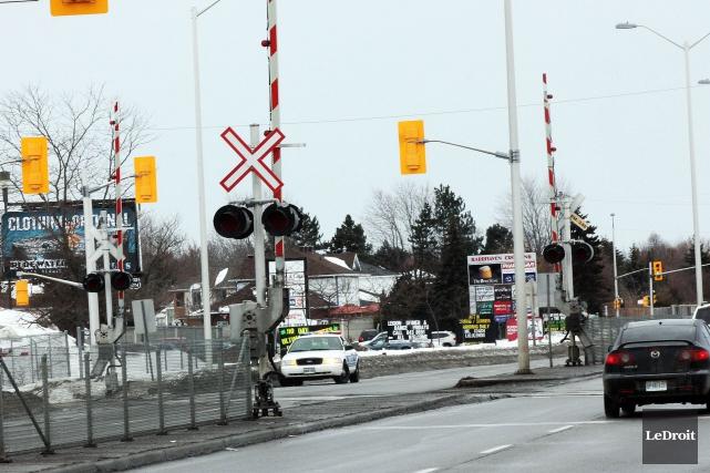 L'accident mortel entre un autobus et un train... (Etienne Ranger, Archives LeDroit)