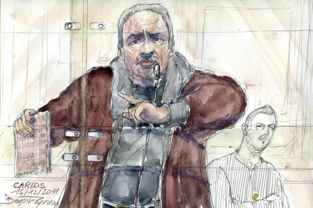 Ilich Ramirez Sanchez, alias Carlos,a été condamné pour... (ILLUSTRATION BENOIT PEYRUCQ, ARCHIVES AFP)