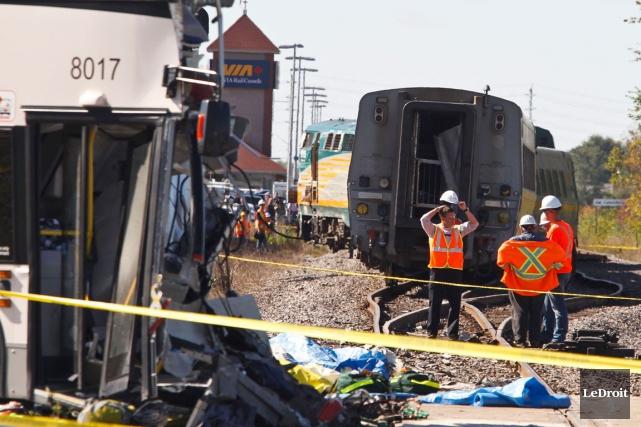 Le matin du 18 septembre 2013, une collision... (Patrick Woodbury, Archives LeDroit)