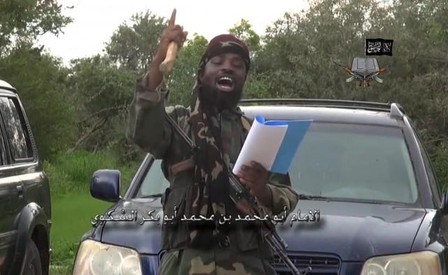 Abubakar Shekau, leader du Boko Haram... (Archives AFP)
