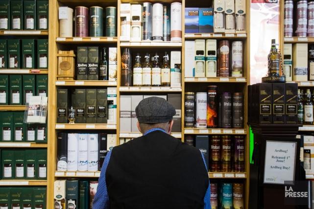Les exportations de whisky écossais ont représenté 7,7... (PHOTO ÉDOUARD PLANTE-FRÉCHETTE, ARCHIVES LA PRESSE)