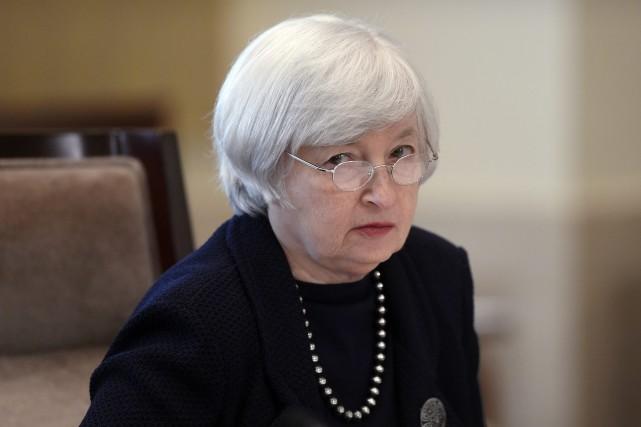 La présidente de la Fed, JanetYellen, a d'ailleurs... (Photo Susan Walsh, AP)