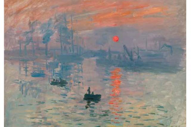 Impression, soleil levant de Claude Monet... (Photo: site internet du musée Marmottan)