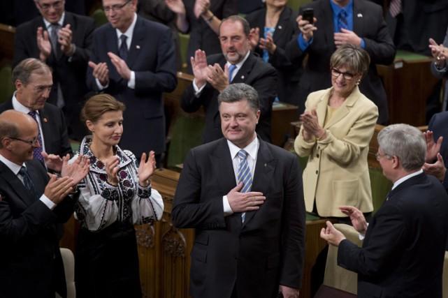 Le président Porochenko, entouré de sa femmeMaryna et... (Photo: PC)