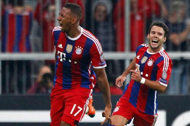 Jérôme Boateng (à gauche) a marqué à la... (Photo Michaela Rehle, Reuters)