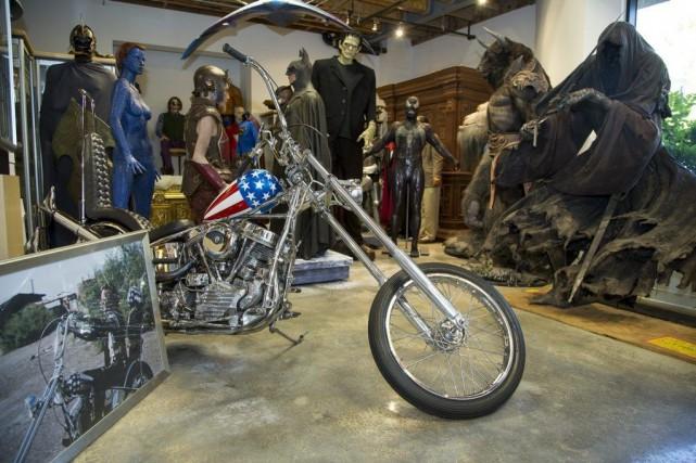 La moto vendue est celle utilisée pour la... (Photo AP)