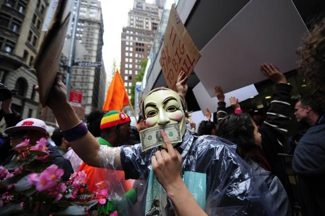 Le collectif Strike Debt compte parmi ses membresdes... (Archives AFP)