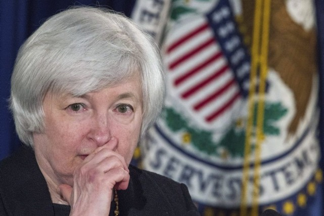 La présidente de la Fed, Janet Yellen.... (PHOTO PAUL J. RICHARDS, AFP)