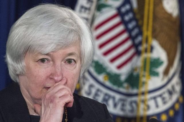 ùLa présidente de la Fed, Janet Yellen.... (PHOTO PAUL J. RICHARDS, AFP)