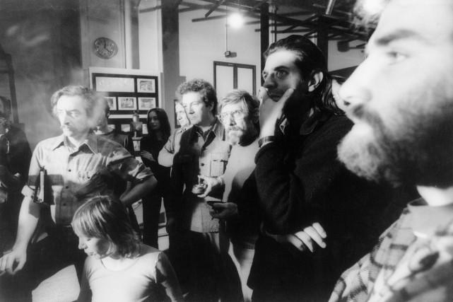 En 1974, les cinéastes Jean Pierre Lefebvre, Gilles... (Photo: Guy Borremans, fournie par l'ARRQ)