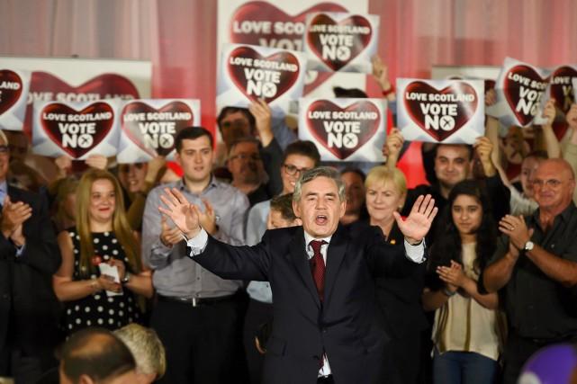 À Glasgow, l'ex-premier ministre britannique Gordon Brown, un... (PHOTO DYLAN MARTINEZ, REUTERS)