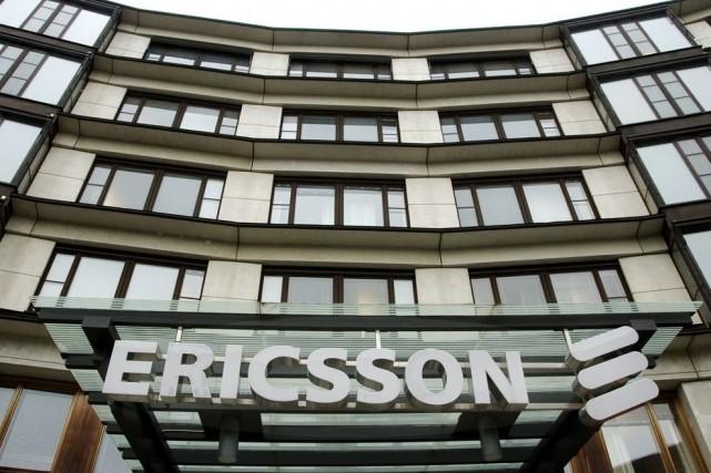 Les bureaux d'Ericsson à Kista, au nord de...