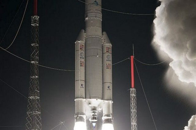 Une fusée Ariane 5 ES.... (PHOTO AGENCE FRANCE-PRESSE/ESA)