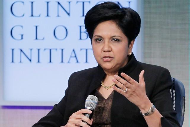 La présidente et directrice générale de Pepsi, Indra... (Photo Mark Lennihan, archives AP)