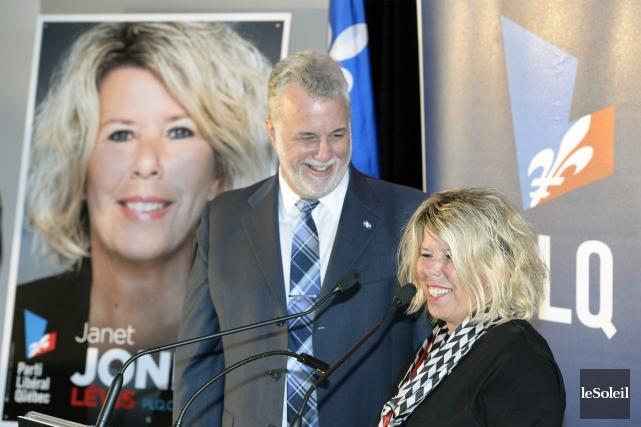 À l'occasion d'un rassemblement partisan à Lévis, jeudi,... (Photo Jean Marie Villeneuve, Le Soleil)