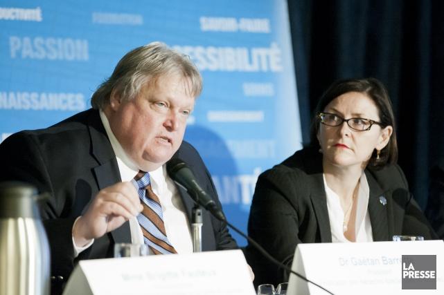 Gaétan Barrette et Diane Francoeur, alors qu'ils étaient... (Photo Ninon Pednault, archives La Presse)
