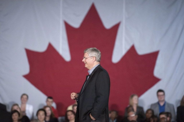 De passage à Hamilton jeudi soir, M. Harper... (Photo La Presse Canadienne)