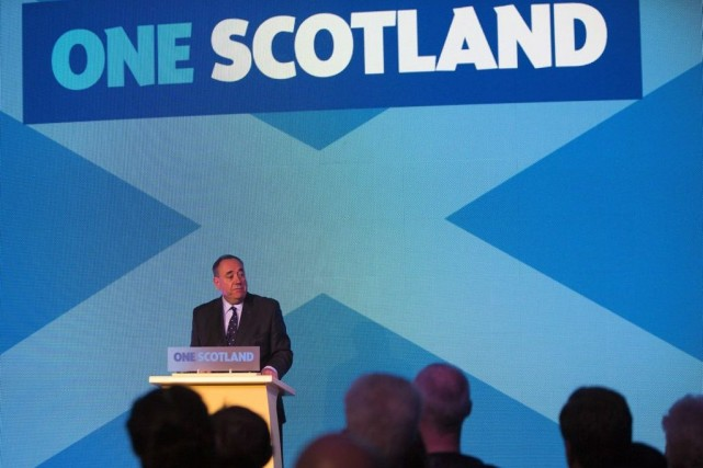 Le premier ministre de l'Écosse, Alex Salmond.... (PHOTO ASSOCIATED PRESS)