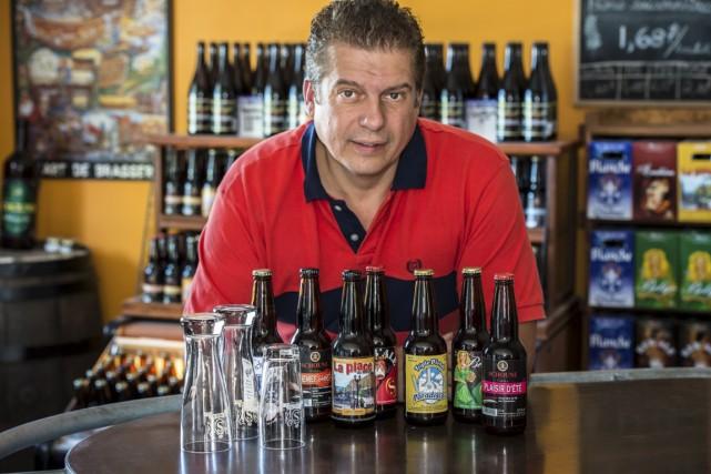 Patrice Schoune, propriétaire de la ferme brasserie Schoune,... (Photo Gilles Brissette, collaboration spéciale)
