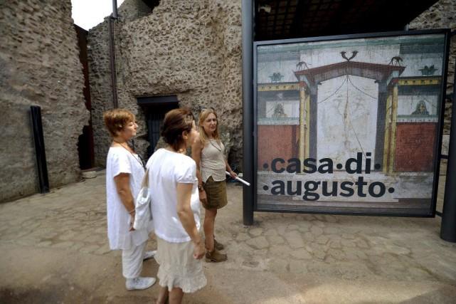 Les maisons d'Auguste et de sa femme Livie ouvrent jeudi au public dans la... (Photo: AFP)