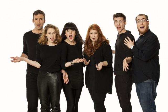 Les comédiens-maison de SNL Québec,Mathieu Quesnel,Léane Labrèche-Dor,Virginie Fortin,Katherine... (Photo: fournie par Télé-Québec)
