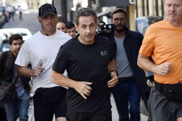 L'ex-président français Nicolas Sarkozy, grand adepte de la... (PHOTO LIONEL BONAVENTURE, ARCHIVES AFP)