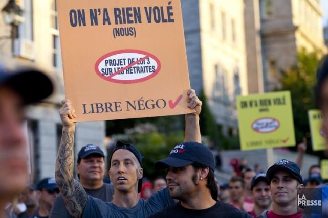 Une manifestation à Montréal, le 18 août dernier.... (PHOTO SARAH MONGEAU-BIRKETT, ARCHIVES LA PRESSE)