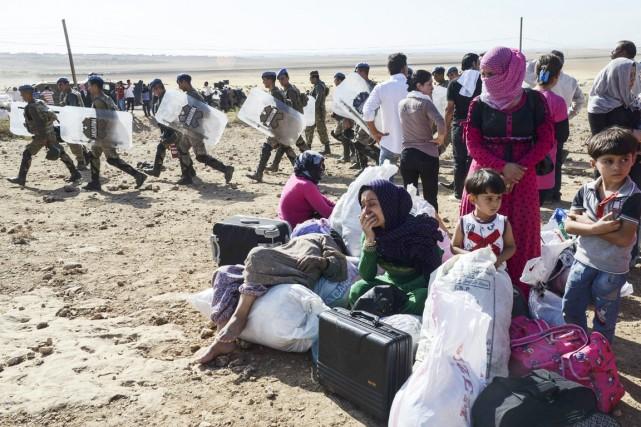 Plus de 5000 habitants de la région ont... (PHOTO ILYAS AKENGIN, AFP)