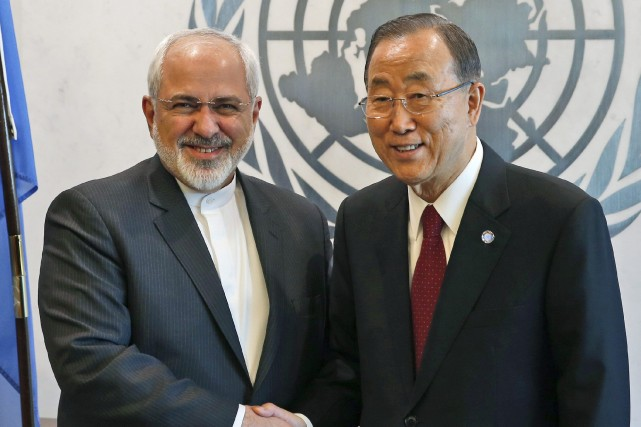 Le ministre iranien des Affaires étrangères Mohammad Javad...