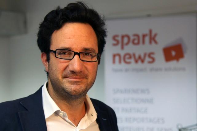 Christian de Boisredon, fondateur de Sparknews/Impact Journalism Day.... (PHOTO V. RAMOND, COLLABORATION SPÉCIALE)