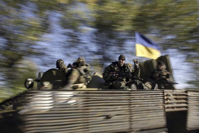 Samedi, ni Kiev ni les rebelles n'avaient fait... (PHOTO ANATOLII STEPANOV, AFP)