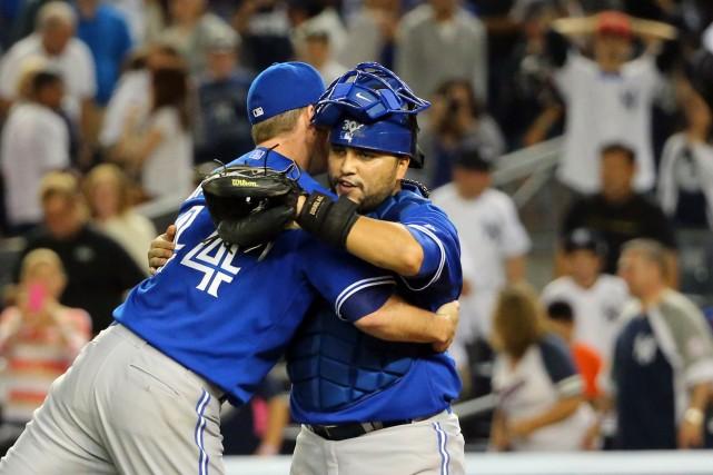 Jose Bautista a frappé son 34e circuit et les Blue Jays de Toronto ont mis fin... (Photo Anthony Gruppuso, USA Today)