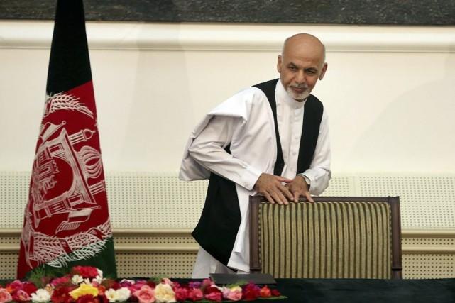 Ashraf Ghani... (PHOTO MASSOUD HOSSAINI, AFP)