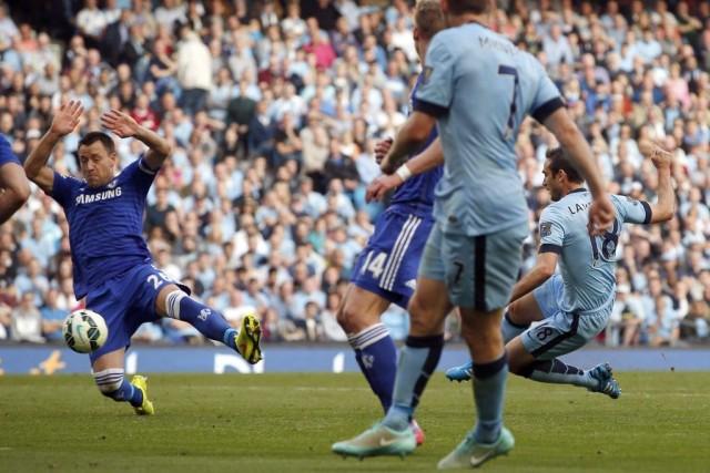 Frank Lampard, de Manchester City, a égalisé la... (PHOTO ANDREW YATES, AFP)