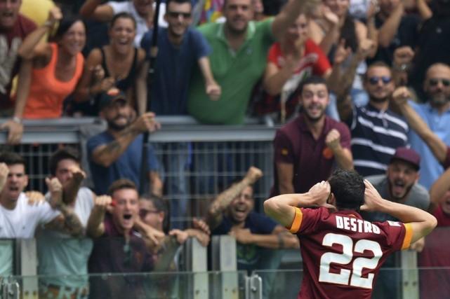 L'AS Rome a signé contre Cagliari (2-0) sa troisième victoire en trois journées... (Photo: AFP)