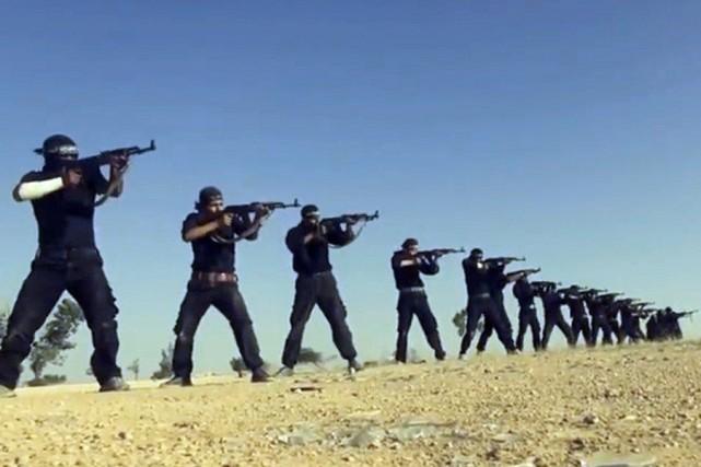 Une image tirée d'un vidéo produit par l'État... (Photo AHRAR AL-SHAM, AFP)