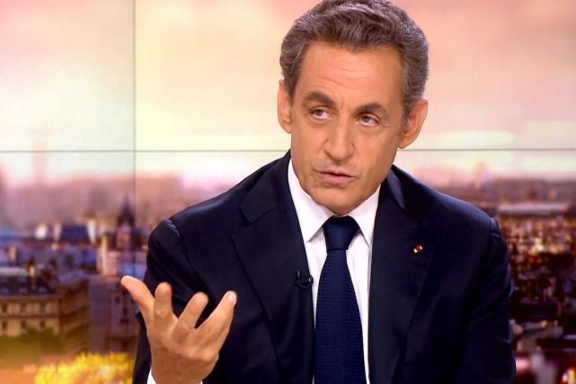 Nicolas Sarkozy, sur les ondes de la télévison... (IMAGE ARCHIVES AFP/FRANCE2)