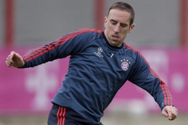 Franck Ribéry a été rattrapé par la douleur... (Photo Matthias Schrader, archives AP)