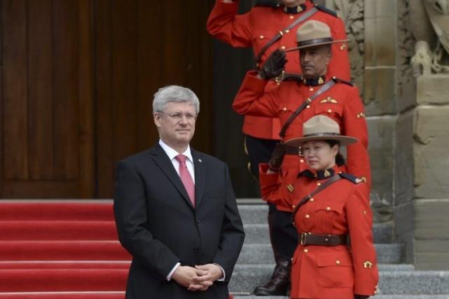 M.Harper ne présentera pas au Sommet sur le... (PHOTO SEAN KILPATRICK, LA PRESSE CANADIENNE)