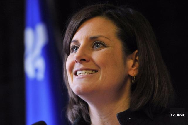 La ministre de la Justice et ministre responsable... (Martin Roy, archives LeDroit)