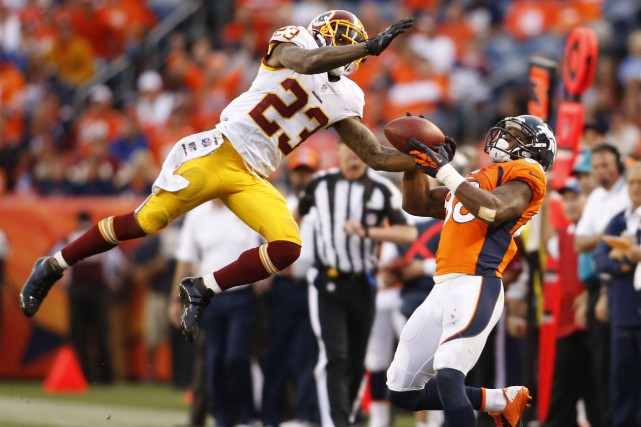DeAngelo Hall des Redskins, à gauche... (Photo Chris Humphreys, USA Today Sports)